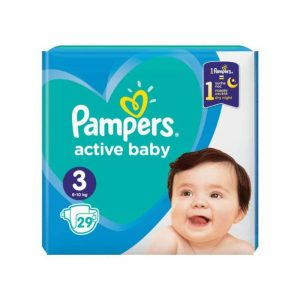 Pampers Active Baby nr 3, 6-8 kg, 29 buc