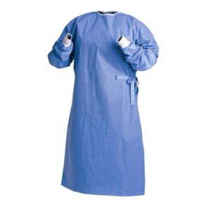 Halat chirurgical intarit, cu manseta