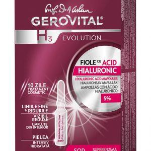 Fiole acid hialuronic Gerovital 10x2ml